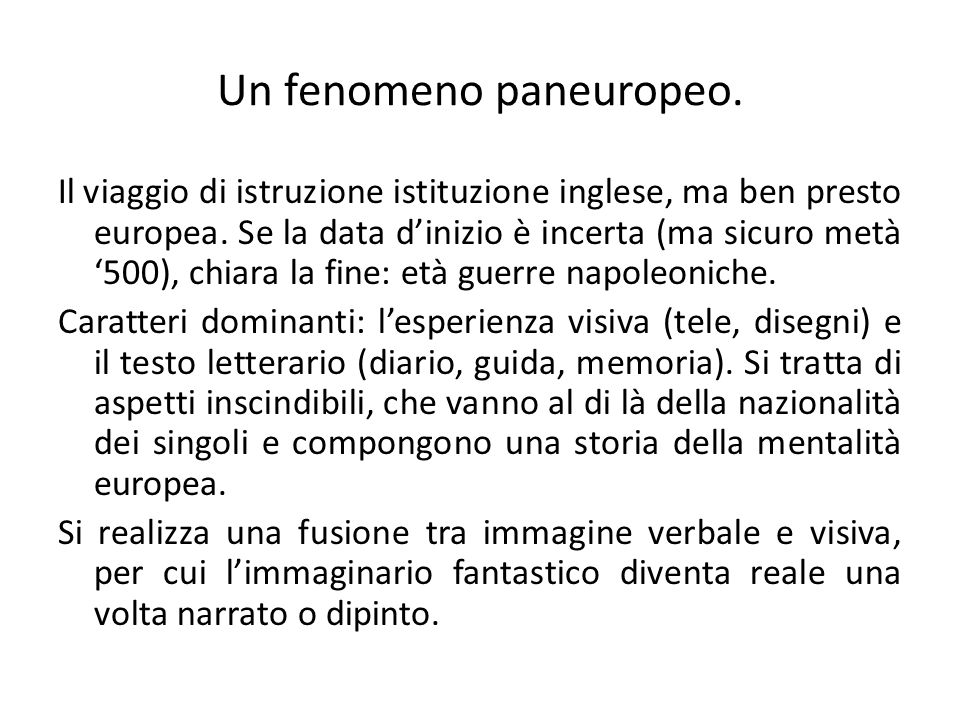 Un fenomeno paneuropeo.