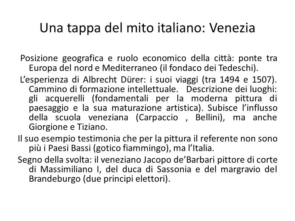 Una tappa del mito italiano: Venezia