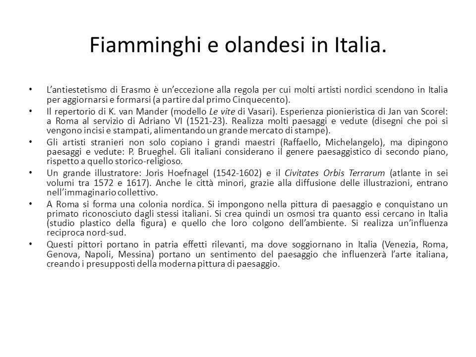Fiamminghi e olandesi in Italia.