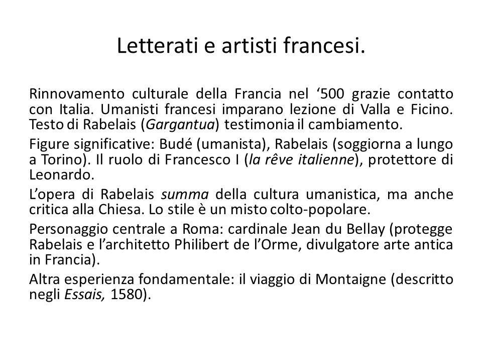 Letterati e artisti francesi.