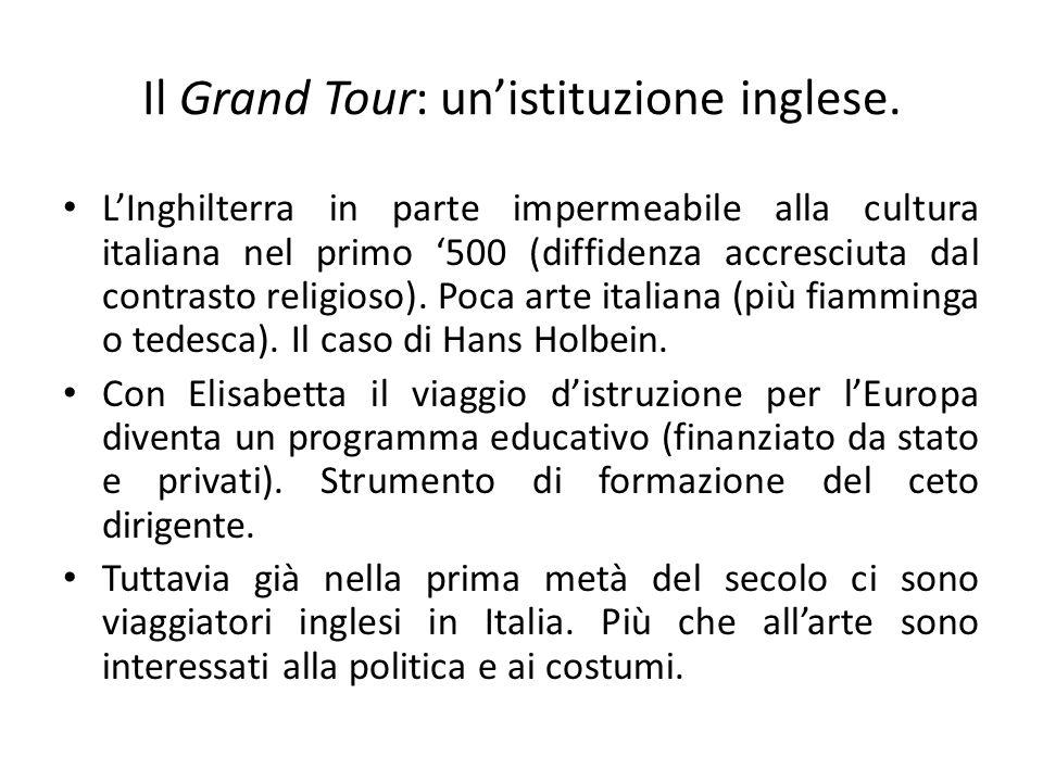 Il Grand Tour: un'istituzione inglese.