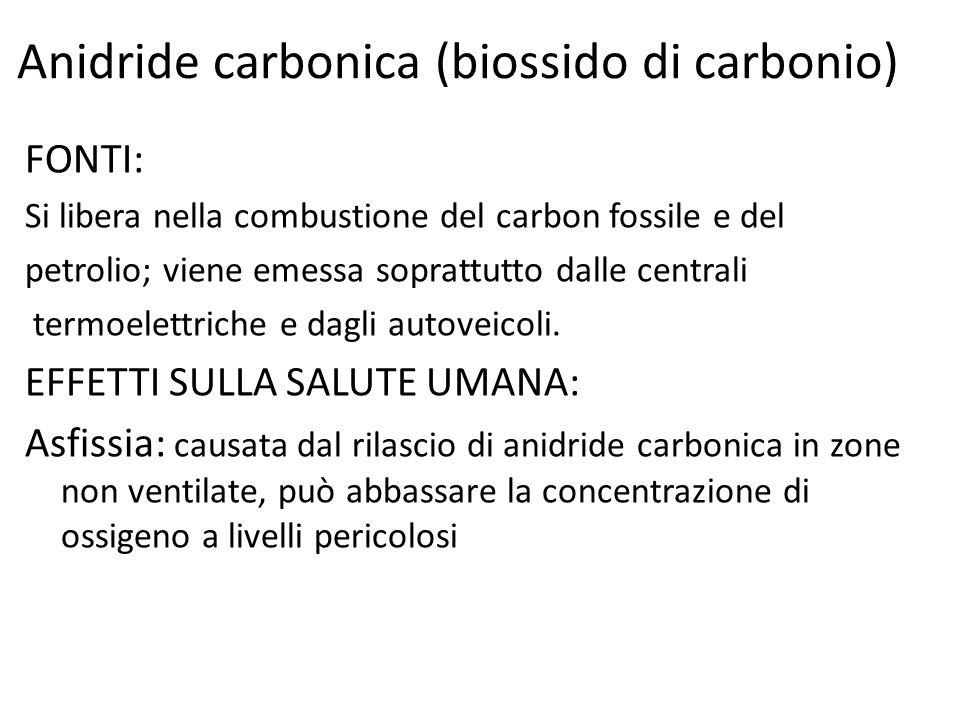 Anidride carbonica (biossido di carbonio)