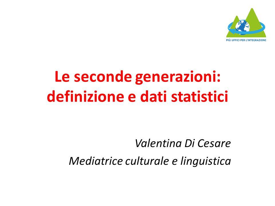 Le seconde generazioni: definizione e dati statistici