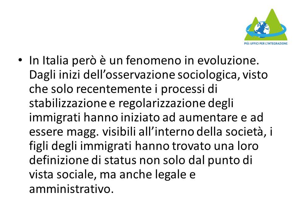 In Italia però è un fenomeno in evoluzione