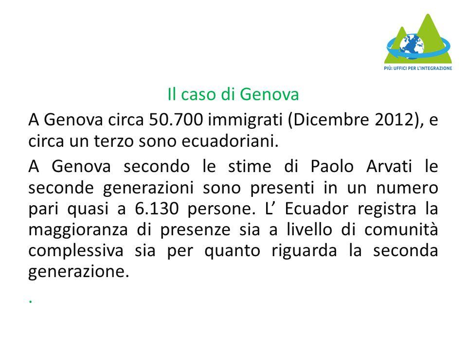 Il caso di Genova A Genova circa 50