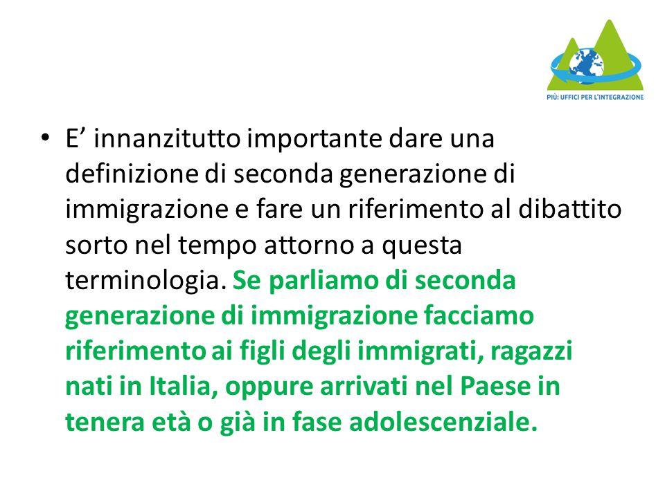 E' innanzitutto importante dare una definizione di seconda generazione di immigrazione e fare un riferimento al dibattito sorto nel tempo attorno a questa terminologia.