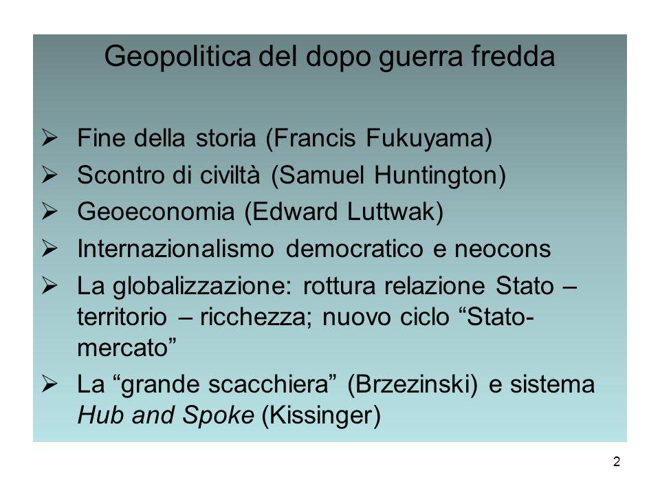 Geopolitica del dopo guerra fredda