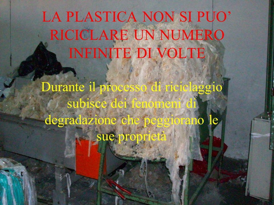 LA PLASTICA NON SI PUO' RICICLARE UN NUMERO INFINITE DI VOLTE