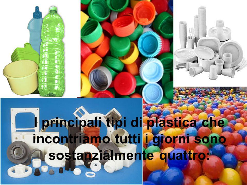 I principali tipi di plastica che incontriamo tutti i giorni sono sostanzialmente quattro: