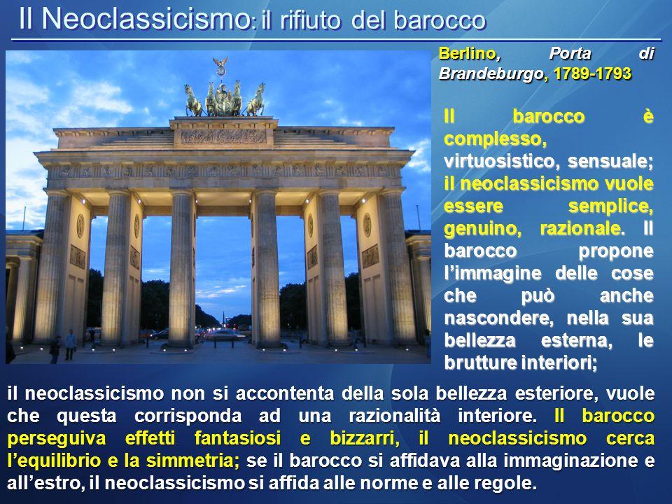 Il Neoclassicismo: il rifiuto del barocco