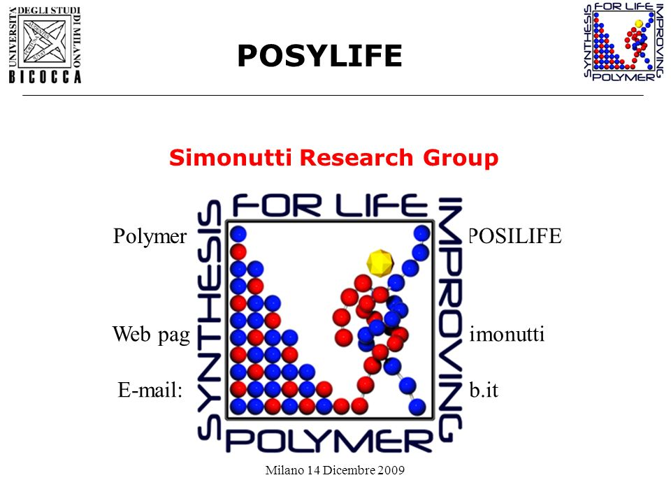 POSYLIFE Simonutti Research Group