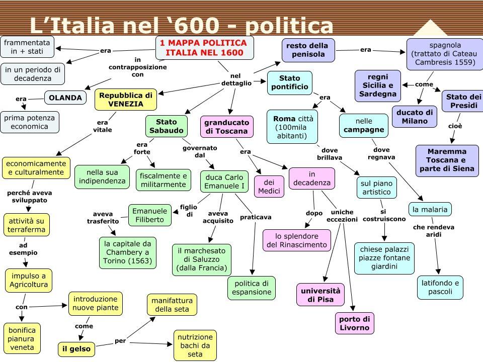 L'Italia nel '600 - politica