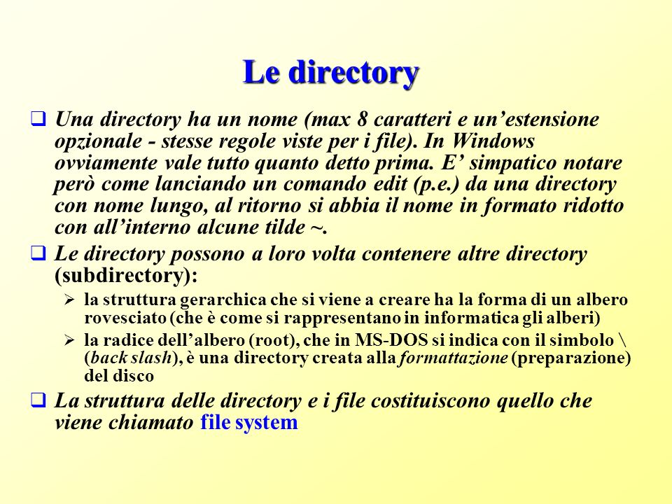 Le directory