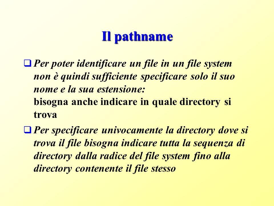 Il pathname