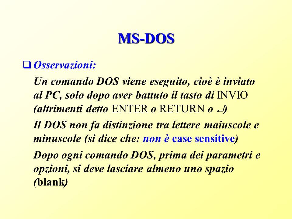 MS-DOS Osservazioni: