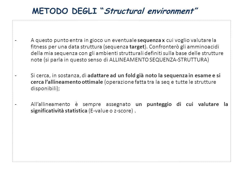 METODO DEGLI Structural environment
