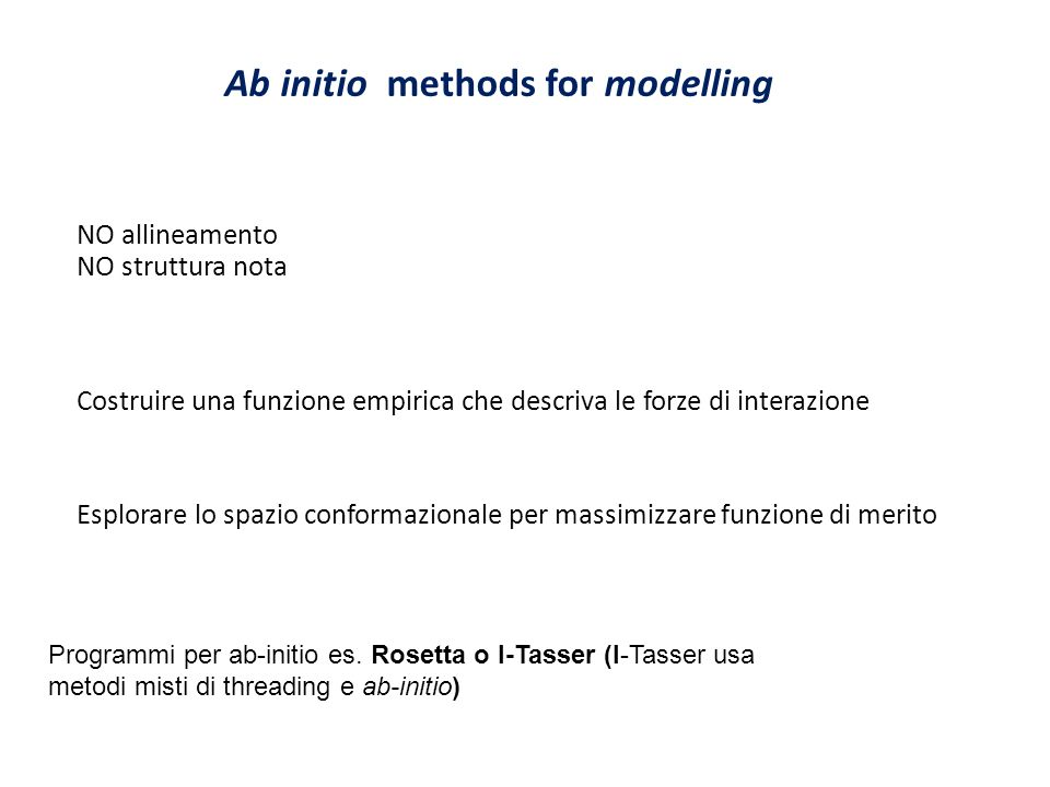 Ab initio methods for modelling