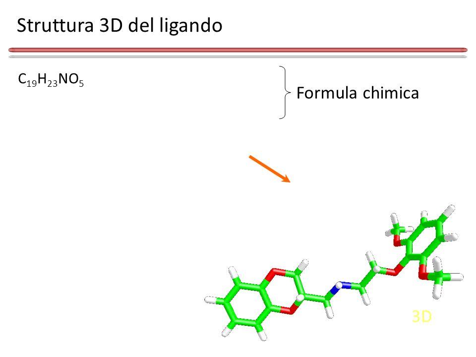 Struttura 3D del ligando