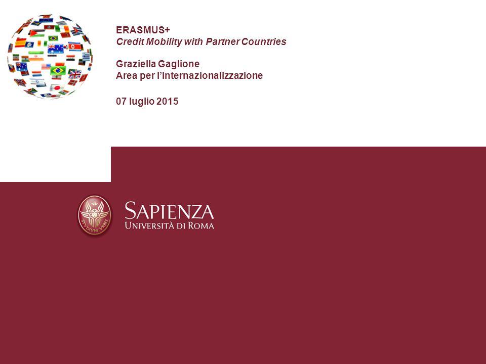 ERASMUS+ Credit Mobility with Partner Countries Graziella Gaglione Area per l'Internazionalizzazione 07 luglio 2015