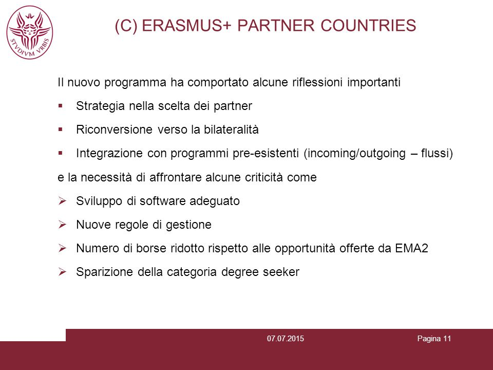 (C) ERASMUS+ PARTNER COUNTRIES