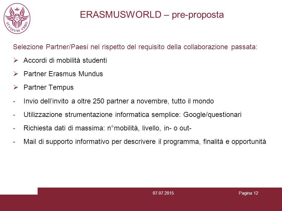 ERASMUSWORLD – pre-proposta