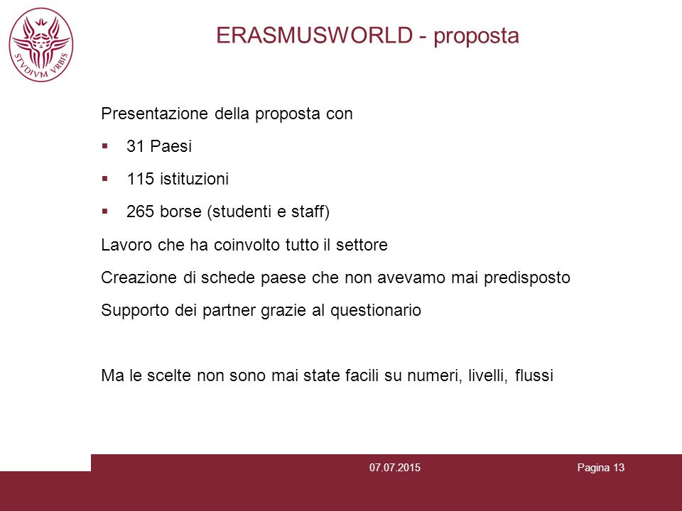 ERASMUSWORLD - proposta