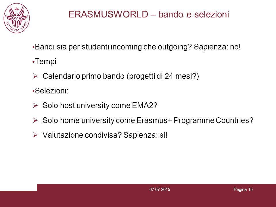 ERASMUSWORLD – bando e selezioni