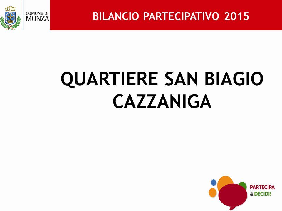 BILANCIO PARTECIPATIVO 2015 QUARTIERE SAN BIAGIO CAZZANIGA