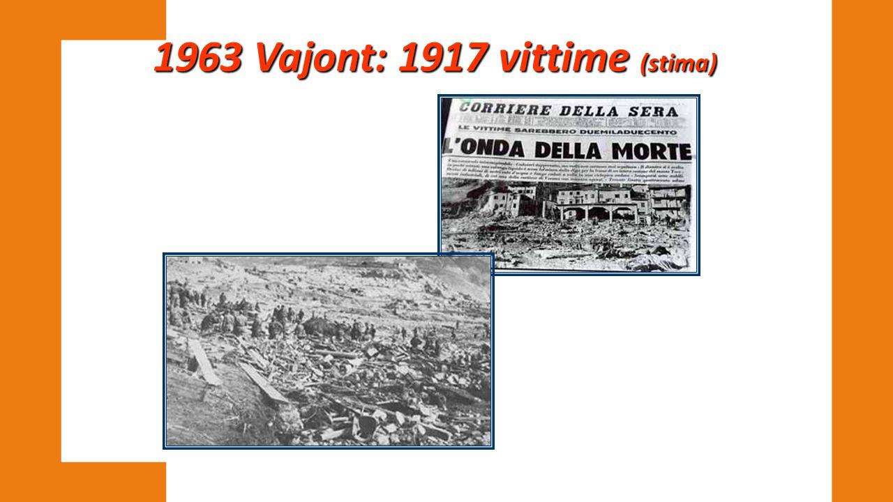 1963 Vajont: 1917 vittime (stima)