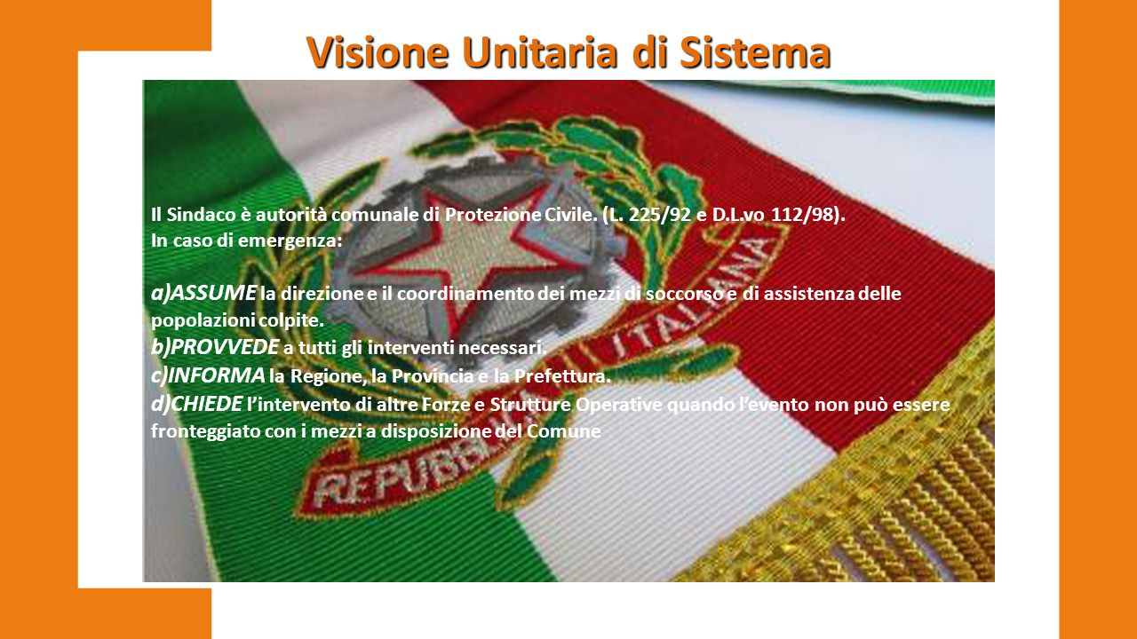 Visione Unitaria di Sistema