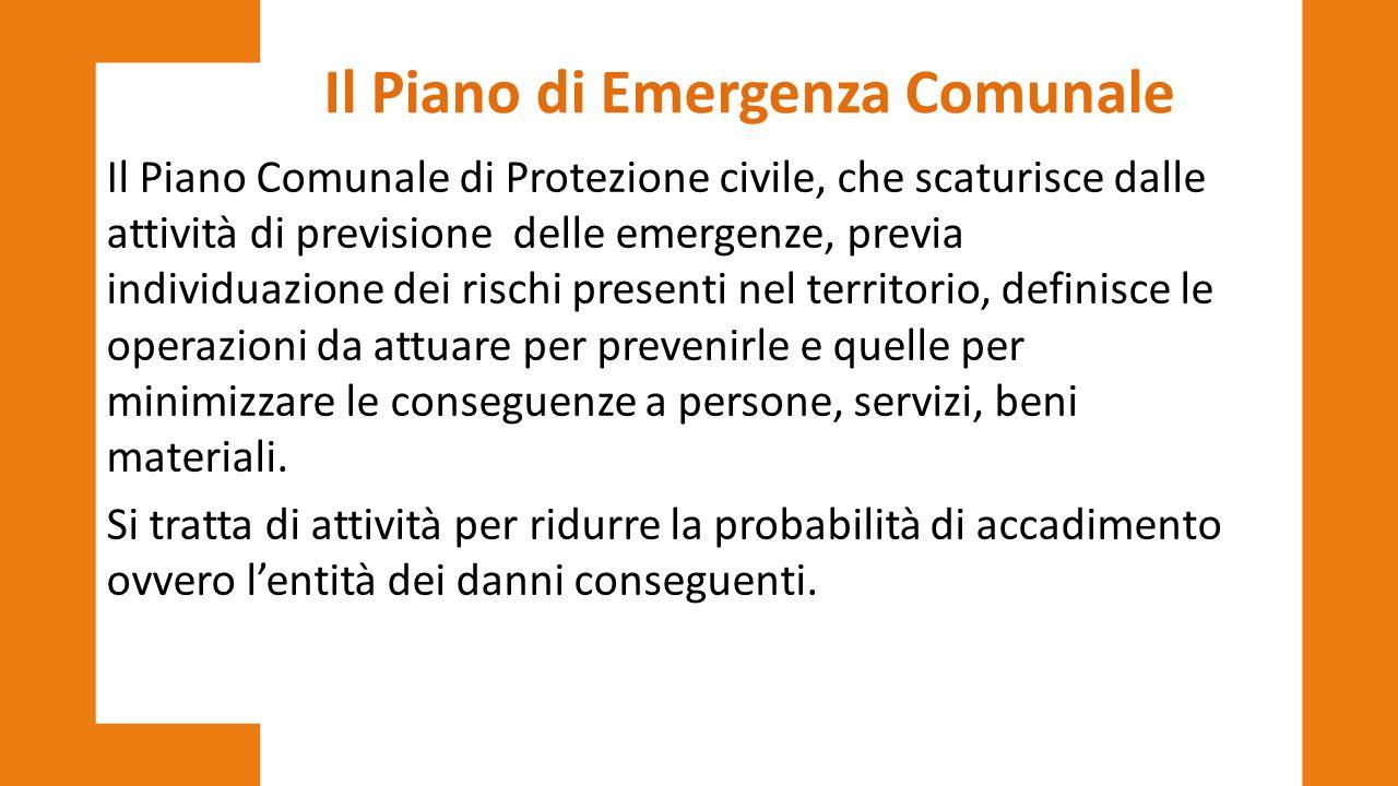 Il Piano di Emergenza Comunale