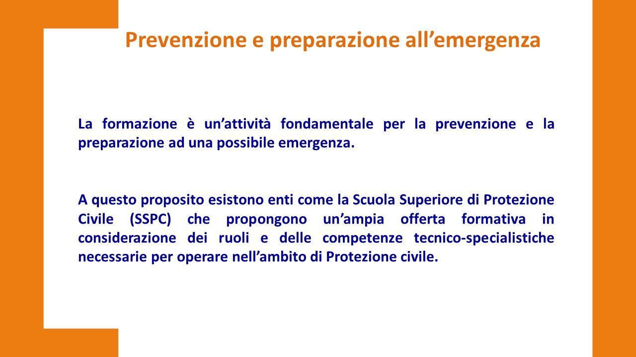 Prevenzione e preparazione all'emergenza