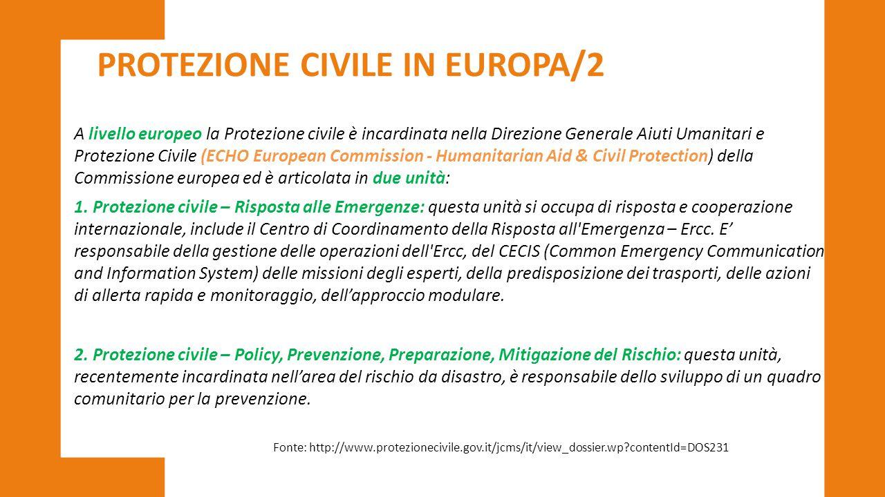 PROTEZIONE CIVILE IN EUROPA/2