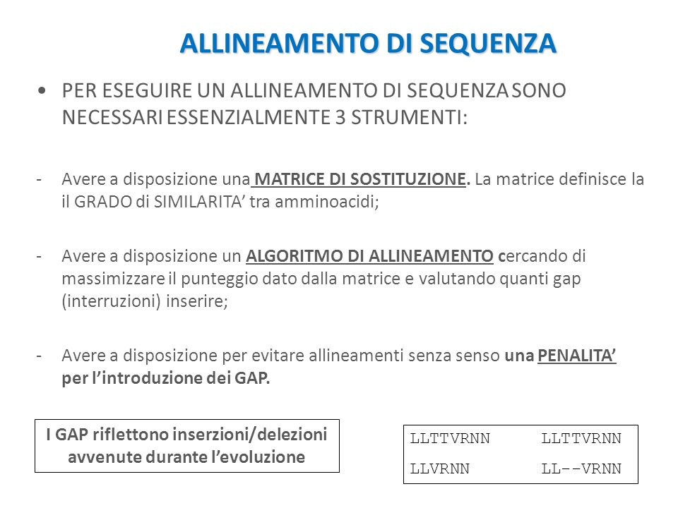 ALLINEAMENTO DI SEQUENZA