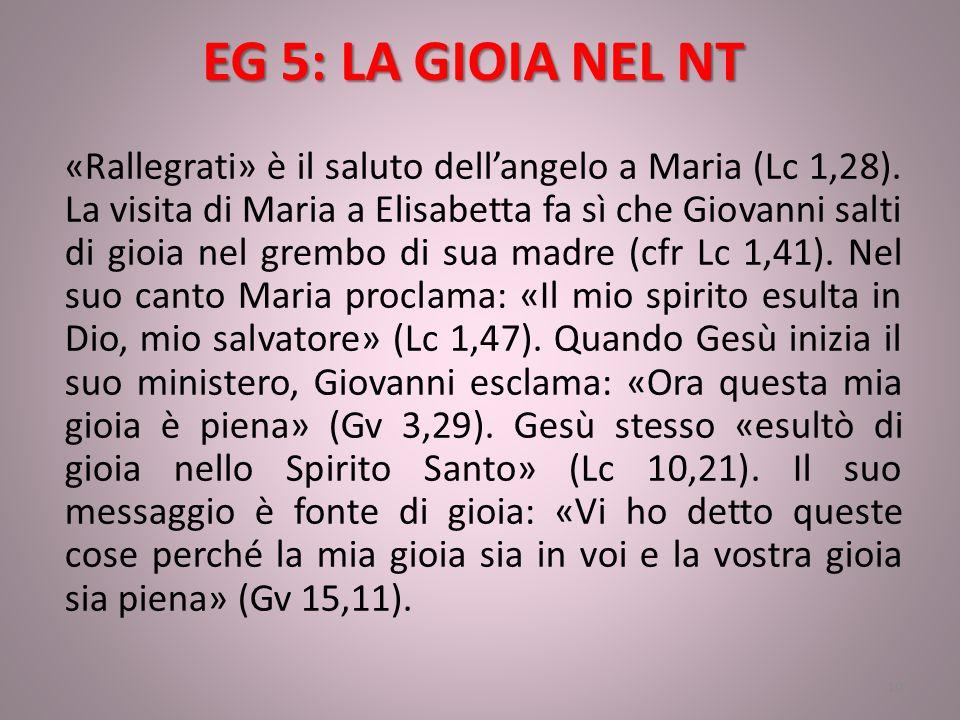 EG 5: LA GIOIA NEL NT