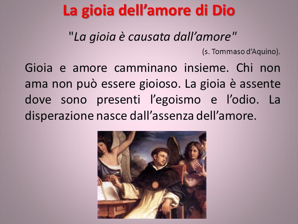 La gioia dell'amore di Dio