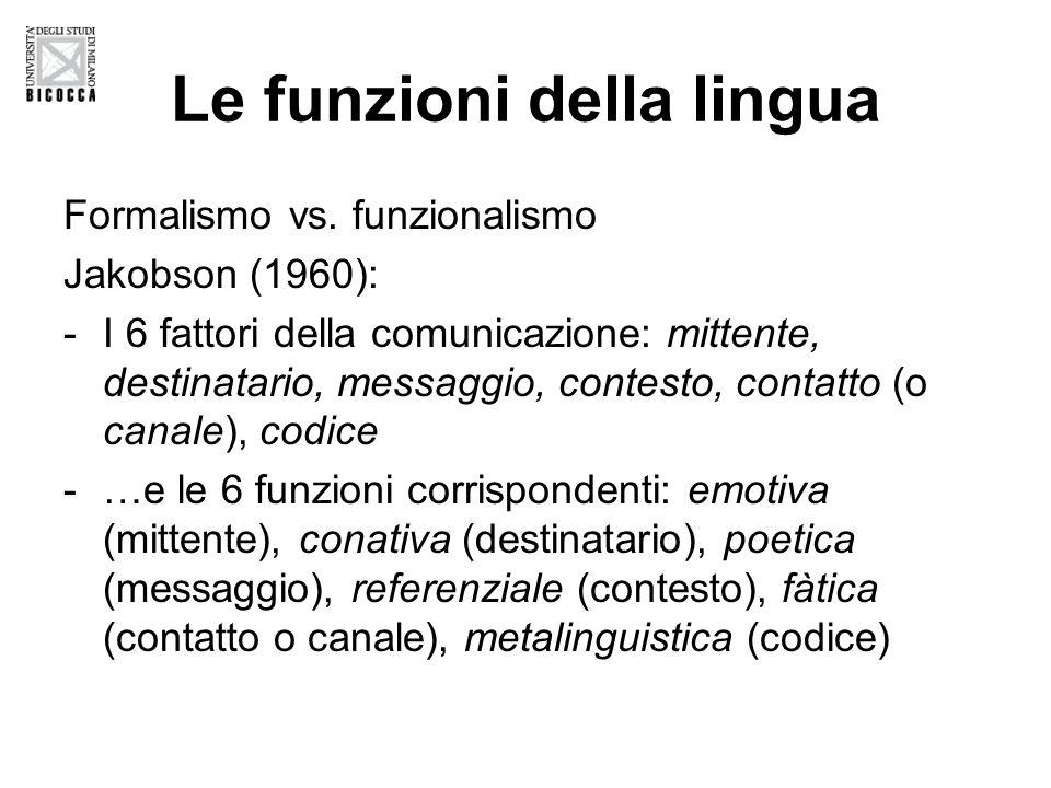 Le funzioni della lingua