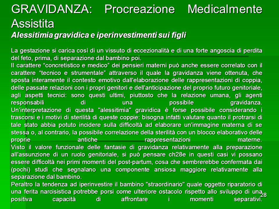 GRAVIDANZA: Procreazione Medicalmente Assistita