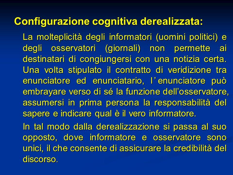 Configurazione cognitiva derealizzata: