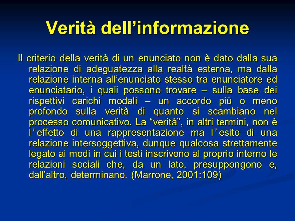 Verità dell'informazione