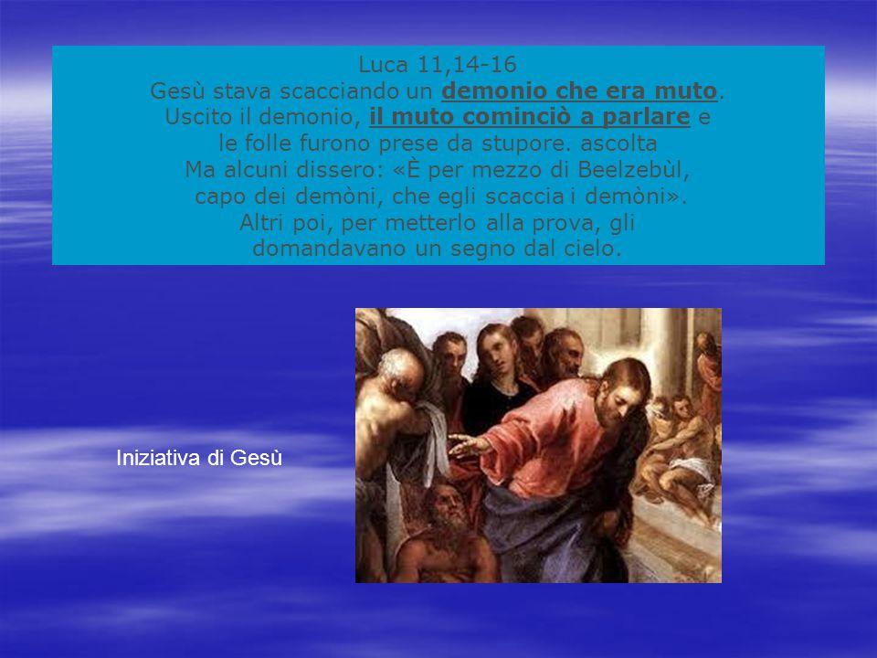 Gesù stava scacciando un demonio che era muto.