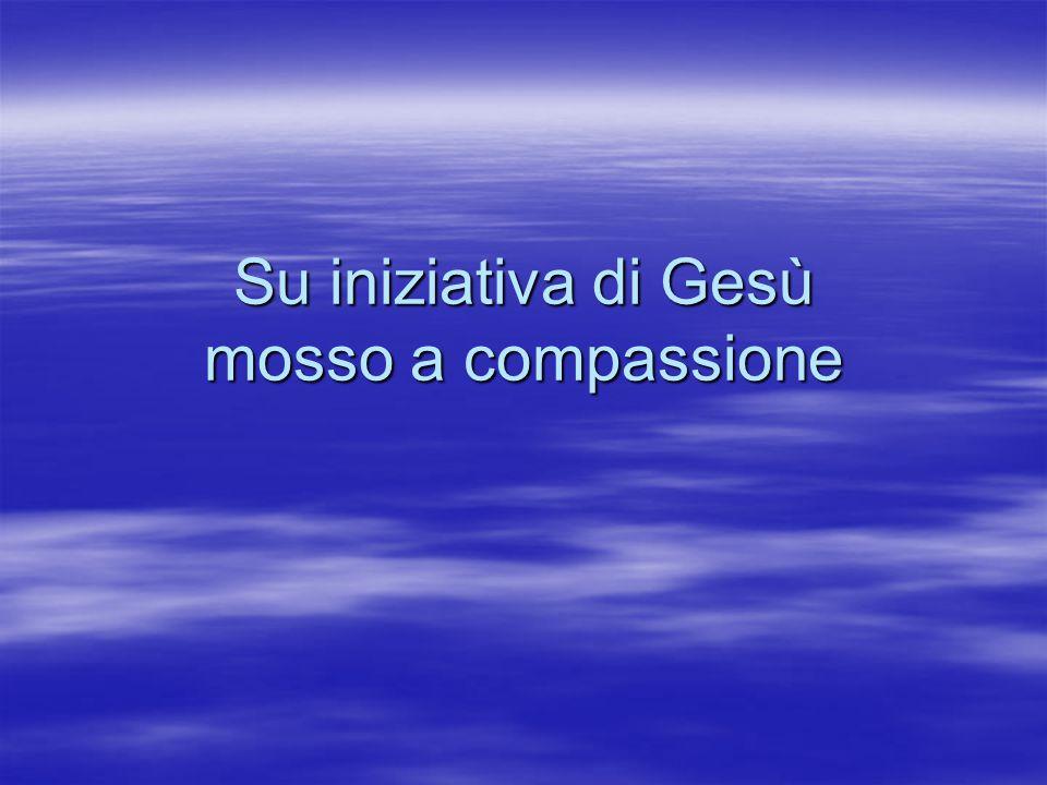 Su iniziativa di Gesù mosso a compassione