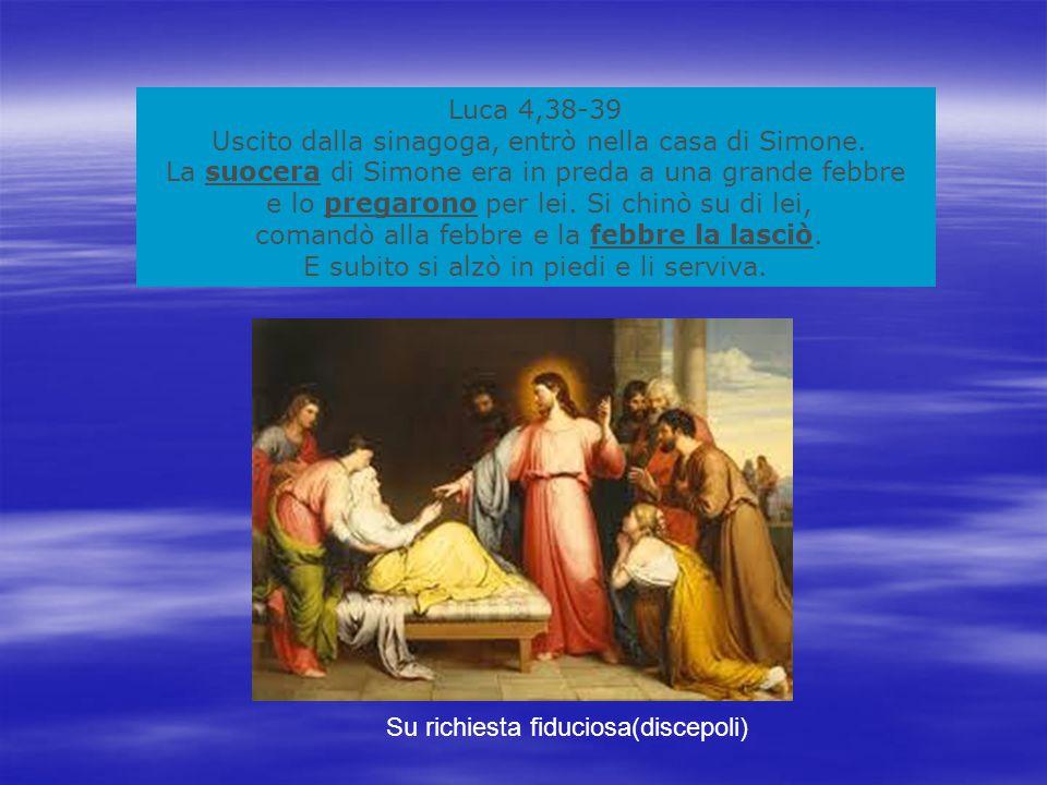 Uscito dalla sinagoga, entrò nella casa di Simone.
