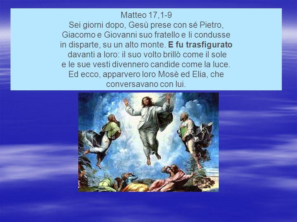 Sei giorni dopo, Gesù prese con sé Pietro,