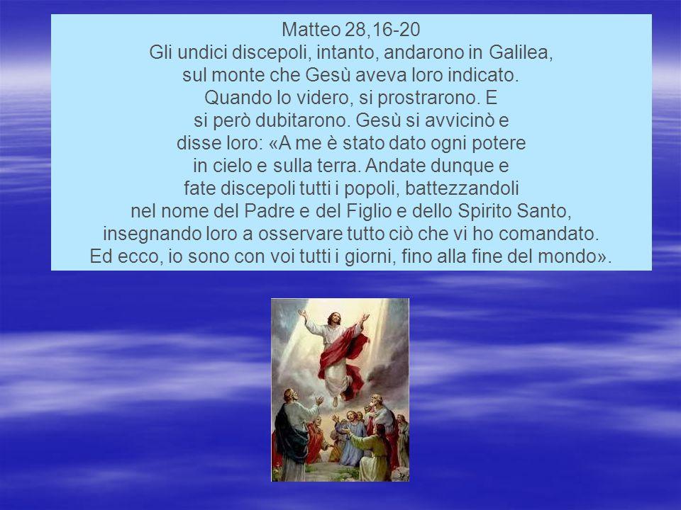 Gli undici discepoli, intanto, andarono in Galilea,
