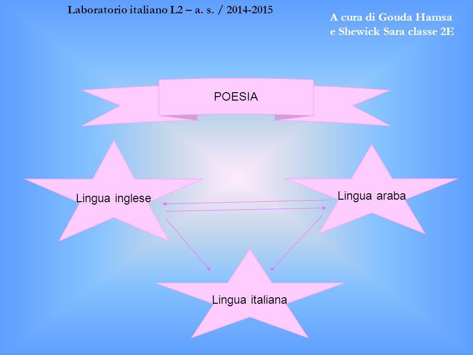 Laboratorio italiano L2 – a. s. / 2014-2015