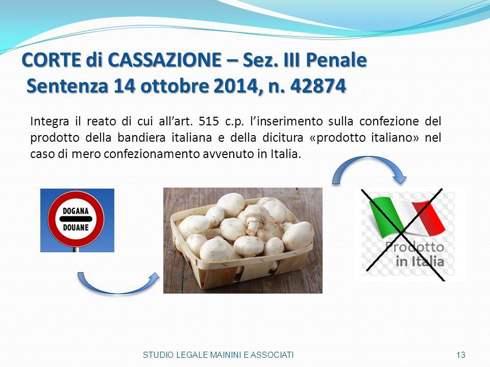 CORTE di CASSAZIONE – Sez. III Penale Sentenza 14 ottobre 2014, n