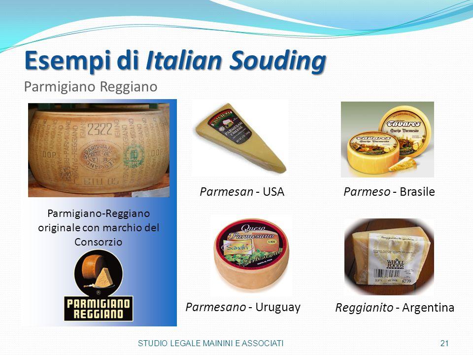 Esempi di Italian Souding Parmigiano Reggiano