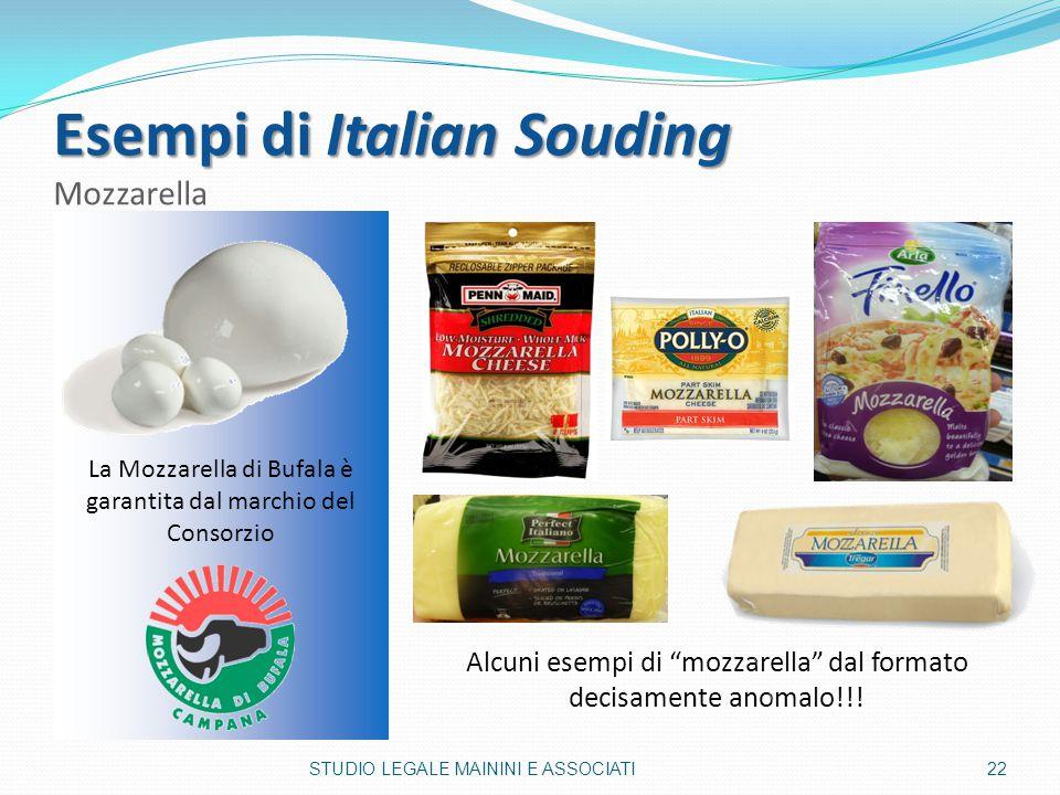 Esempi di Italian Souding Mozzarella