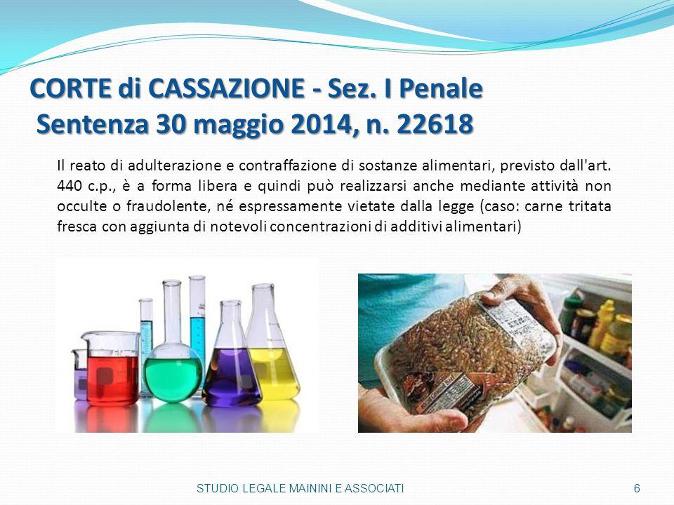 CORTE di CASSAZIONE - Sez. I Penale Sentenza 30 maggio 2014, n. 22618